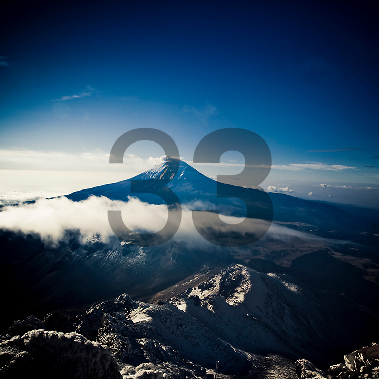 "View from the Iztaccihuatl volcano in Mexico, part of the images of the documentary ""Extraordinariamente Simple"""