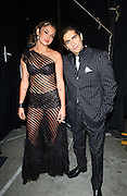 Hosts Drea de Matteo and Michael Imperioli backstage at the VH1 Big in 2002 Awards at the Grand Olympic Auditorium in Los Angeles, Ca., 12/4/02. The show airs Sunday, December 15. Photo by Frank Micelotta/ImageDirect