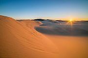 Sand dunes at Umpqua Dunes, Oregon Dunes National Recreation Area, Oregon Coast.