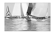 140714_ISON_Panerai_Classics<br /> The Panerai British Classic Week sailing regatta off Cowes, Isle of Wight. <br /> Picture date Monday 14th July, 2014.<br /> Picture by Christopher Ison. Contact +447544 044177 chris@christopherison.com
