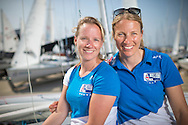 Team GBR Olympic sailing team Hannah Mills (left) and Saskia Clark pictured on day one of the ISAF Sailing World Cup at the Weymouth and Portland National Sailing Academy, Weymouth. The pair sail in the Women's 470 class and won silver at London 2012. PRESS ASSOCIATION Photo. Picture date: Wednesday June 8, 2016. See PA story SAILING World Cup. Photo credit should read: Chris Ison/PA Wire.