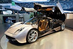 Pagani Huayra super car at the Geneva Motor Show 2011 Switzerland