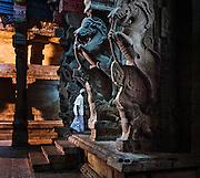 Sri Meenakshi Hindu Temple. Maderai, Tamil Nadu, India.