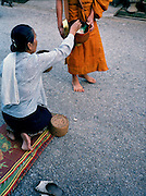 Morning offering to monks.