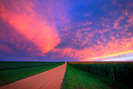 Dirt Road Sunset, German Valley, IL.