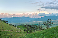 Absaroka Mountains, from west of Livingston, Montana, Property Released