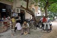 Outdoor scene in Saket, South New Delhi, India.