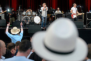 UK. Knebworth. Roger Daltry and Pete Townsend of The Who play live at Hedgestock, the first event of it's kind for the Hedge Fund industry to meet and mix in an atmosphere of 'love and peace'. .Photo©Steve Forrest/Workers' Photos