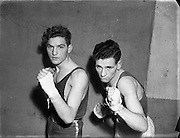 On right is S Bateman (Kilkenny) at National Junior Boxing Championships - Welterweight runner up.<br />
