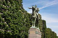 Simone Bolivar statue in Paris France in Spring time of May 2008