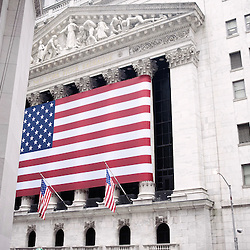 New York Stock Exchange. Wandering  around the Financial District with the  Wall Street's Soundwalk (by John Solitto) on my ears. 2009, June 12th. Photo: Antoine Doyen