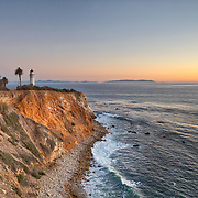 USA, California, Ranchos Palos Verdes. The lighthouse at Point Vicente.