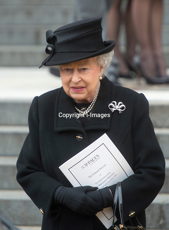 HM The Queen on the steps of St Paul's, St Paul's Cathedral, London, UK, on Wednesday 17 April, 2013, Thursday 18 April, 2013 Photo by: i-Images
