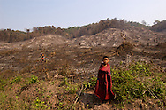 Slash and burn farming is the only way to get the ground productive enough to grow crops in much of Southeast Asia. It's an easy and profitable, yet short term way to make a living. They cut down the jungle; sell the trees; then burn whatever is left. The ashes from the fire make the ground productive enough to grow rubber trees for a few years...We came upon this sight while walking to a village just on the other side of the hill in the background. People from a town about 20 minutes away came and burned the jungle without asking permission or giving a penny to the local people. I can't imagine what it must have been like for this boy to have a beautiful, cool jungle to play in one day, and be faced with this hot, awful wasteland the next