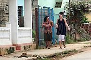 Sidewalk in Moron, Ciego de Avila, Cuba.