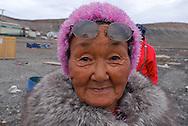 Inuit family. Coastal Inuit community of Arctic Bay. Lancaster Sound. HIgh Arctic. Baffin Island.