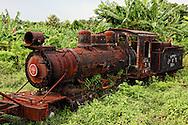 Old train in Guaos, Cienfuegos, Cuba.