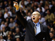 WEST LAFAYETTE, IN - DECEMBER 01: Head coach Chris Mack of the Xavier Musketeers points to his players during action against the Purdue Boilermakers at Mackey Arena on December 1, 2012 in West Lafayette, Indiana. Xavier defeated Purdue 63-57. (Photo by Michael Hickey/Getty Images) *** Local Caption *** Chris Mack