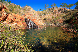 Croc Creek is a popular swimming spot with tourists from the local charter boats.