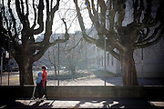 Brothers are seen on their way to school in Bienne, Switzerland. Image © Angelos Giotopoulos/Falcon Photo Agency