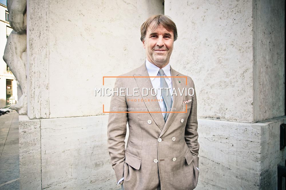 Brunello Cucinelli, re del cashmere, fondatore e proprietario dell'omonima azienda<br /> <br /> Brunello Cucinelli, king of cashmere, founder and owner of the farm.