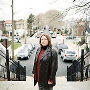 Poet Amanda J. Bradley in Brooklyn, New York. 2011
