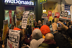 2016-01-13 Protests for living wage and end to zero hours contracts outside McDonalds