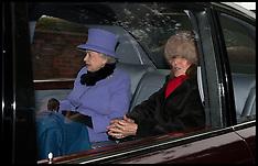 JAN 06 2013 The Queen attends Church At Sandringham