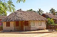 Thatched house in Bocas, Holguin, Cuba.