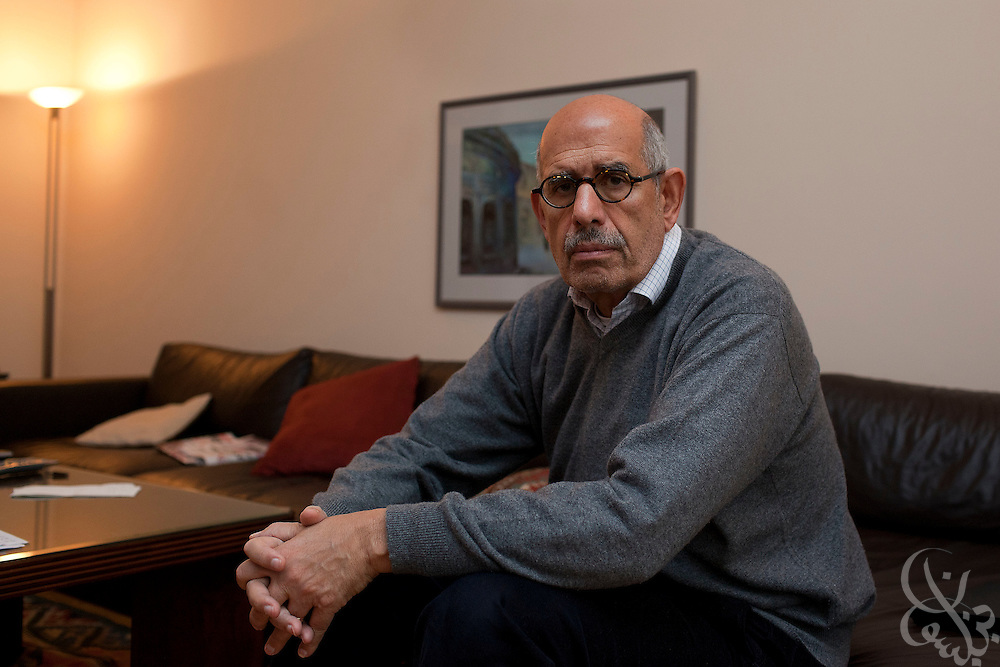 Mohammed ElBaradei, head of the Egyptian National Association for Change poses for a portrait February 05, 2011 at his villa in Giza, Egypt. ElBaradei has been urging President Mubarak to listen to the protesters demands and step down.  . .Credit: Scott Nelson