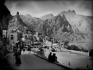 Yemenis built their cities high in the mountains not only for defensive advantage but because only the high mountains have enough water for agriculture, Manakha, Haraz Mountains, Yemen.