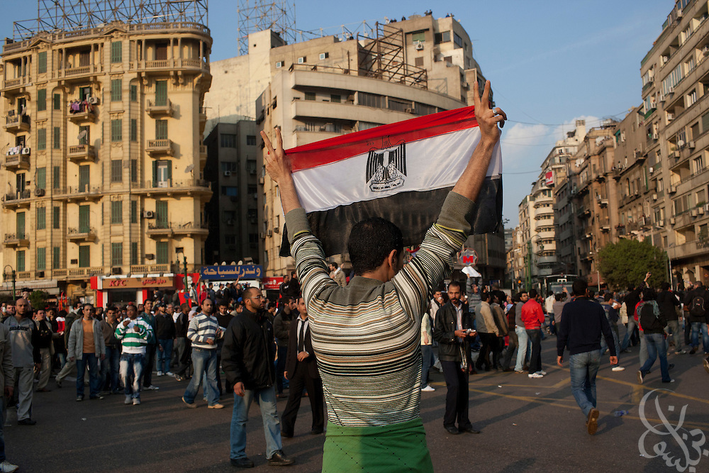 "Thousands of Egyptian protesters rally in Tahrir Square during January 25, 2011 ""Day of Anger"" demonstrations in downtown Cairo, Egypt. Today's protests across Egypt, inspired by the revolution in Tunisia, were organized by a wide range of opposition groups and intended to spark a similar movement in Egypt. Credit: Scott Nelson"
