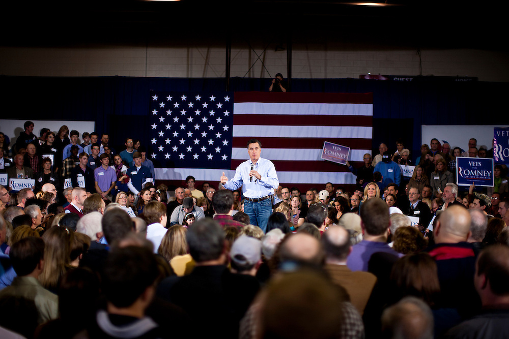 Republican presidential candidate Mitt Romney holds a campaign rally on Wednesday, January 18, 2012 in Irmo, SC.