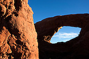 UT00120-00...UTAH - South Window in the Windows Section of Arched National Park.