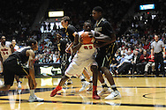 Mississippi's Dwight Coleby (23) vs. Vanderbilt's Damian Jones (30) in Oxford, Miss. on Saturday, March 8, 2014. (AP Photo/Oxford Eagle, Bruce Newman)