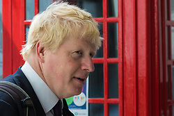 Camden City Learning Centre, London, June 15th 2015. London Mayor Boris Johnson joins future entrepreneurs at Camden City Learning Centre to launch London Technology Week and to launch a dedicated online hub for the Capital's thriving technology industry. PICTURED: London Mayor Boris Johnson arrives at Camden City Learning Centre.