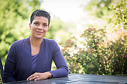 Author Michelle Alexander photographed at her home in New Albany, Ohio on July 17, 2014 for Teaching Tolerance magazine.