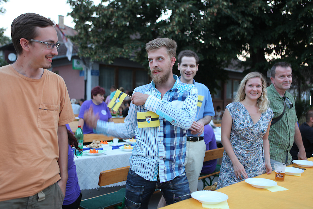 Liberland Settlement Association members at the Bodrog festival, Backi Monostor, Serbia