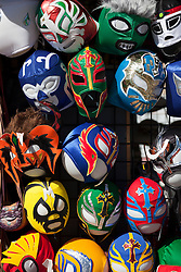 collection of wrestling masks