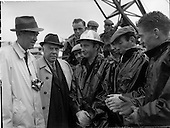 1962 - Oil representatives at  drill site Rathmolyon, Co. Meath