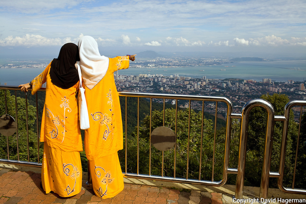 Taking in the view from atop Penang Hill