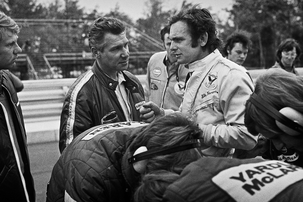 American Yardley Team McLaren Formula One driver Peter Revson, with seen here during practice for the 1972 United States Grand Prix, seemed to have positioned himself for F1 stardom by the fall of that year. <br />