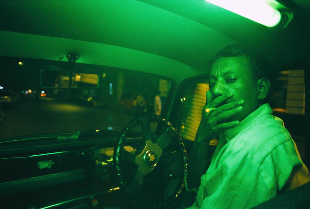 A cab driver in Mumbai, India