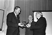 1963 - W.D. & H.O. Wills LTD., handing over trophy to Glenageary Horse Show Committee at the Ro