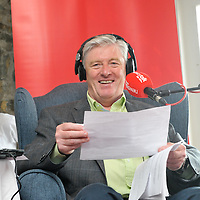 Pat Kenny presenting his morning show from The Trident Hotel, Kinsale.