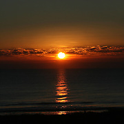Sunrise or sunset, reflection in the sea 1.