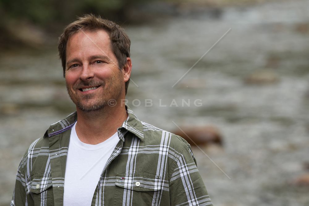 handsome middle aged man outdoors