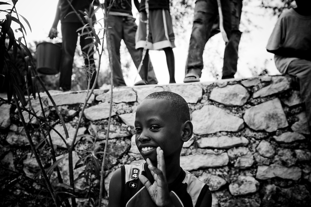 Kids play a camp for those displaced by the recent earthquake in Petionville, outside Port-au-Prince, Haiti.