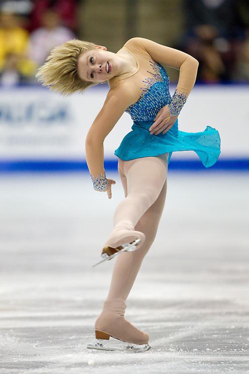 GJR339 -20111028- Mississauga, Ontario,Canada-  Rachael Flatt of the United States skates her short program at Skate Canada International, October 28, 2011.<br /> AFP PHOTO/Geoff Robins