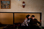Two young lovers meet in a cafe in Karaouine one of Tunisia's most conservative cities.